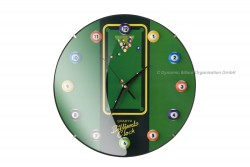11-Ball-Billiard-Clock, Ø30cm