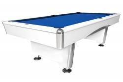 "Billardtisch ""Triumph"" Pool, matt-weiß , Tuchfarbe blau, grün  oder rot"