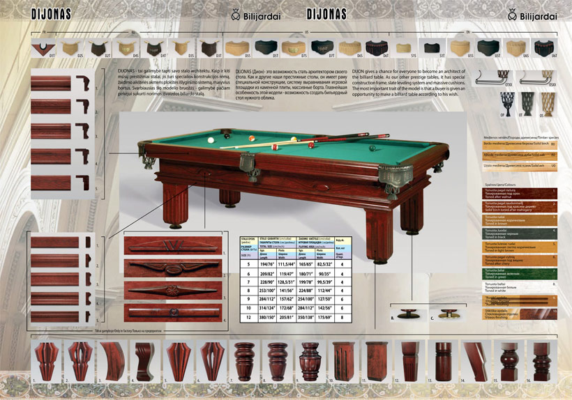 Billard dijon 8 ft billardtisch billiard pool poolbillard for Pool aufstellbar
