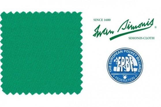 Сукно Simonis 760 жёлто-зелёный Пул&Пирамида