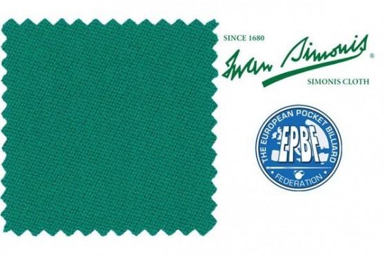 Сукно Simonis 860 сине - зелёный Пул