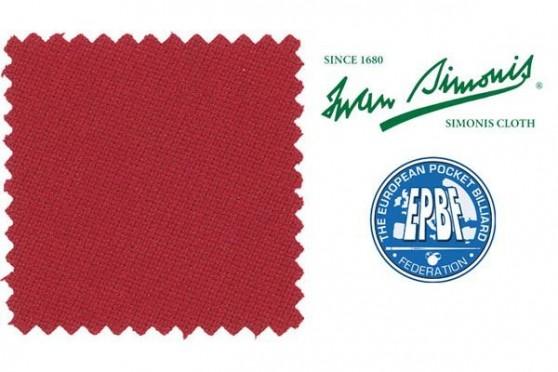 Сукно Simonis 860 красное Пул
