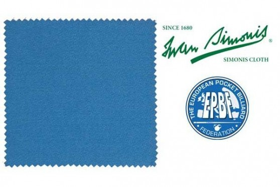 Сукно Simonis 860 HR турнирный синий Пул