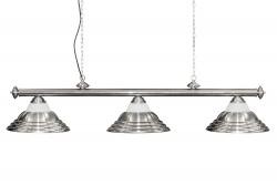 Lamp ADAGIO, 3-bells, silver, Ø 35cm