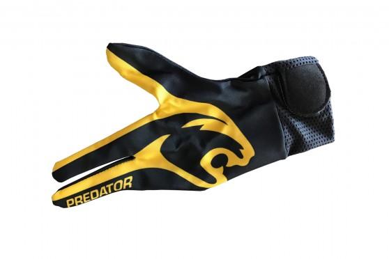"""Перчатка """"Predator"""", 3х-палая, черно-желтая"""