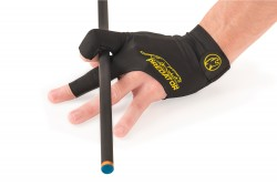 Billiard Glove, Predator Second Skin, 3-Finger, black-yellow