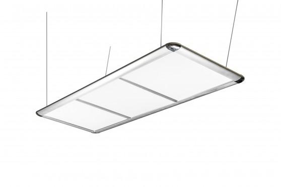 Pool Table Light, LED Flat, silver, 195 x 70 x 6,5 cm