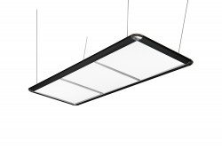 Billardlampe, LED Flat, schwarz, 195 x 70 x 6,5 cm