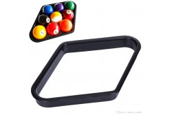 Black Plastic 9-Ball Triangle / Rack 57,2 mm