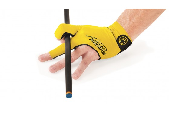 Billiard Glove, Predator Second Skin, 3-Finger, yellow-black