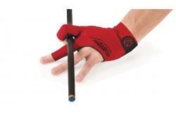 Billard Handschuh Predator Second Skin, 3-Finger, rot-schwarz