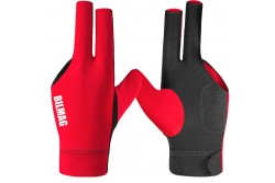 Billiard Glove, BILMAG 3-Finger, red-black