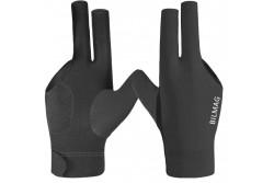 Billard Handschuh BILMAG, 3-Finger, schwarz, für rechte Hand