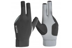 Billiard Glove, BILMAG 3-Finger, grey-black