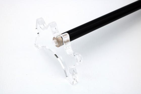 """Holzstiel """"Classic"""", schwarz einteilig, 145cm"""