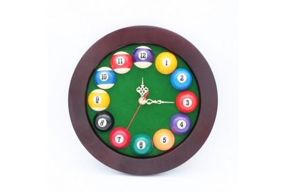 12-Ball-Billard-Uhr, Ø30cm