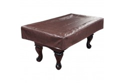 Table Cover 7,8, 9 Ft Artificial Leather, brown
