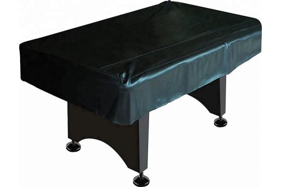 Tischabdeckung Abdeckplane Deluxe für 7,8 9 ft Billardtische  Kunstleder, schwarz