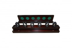 "Cue Holder ""Antik"", mahogany, for 6 Cues"