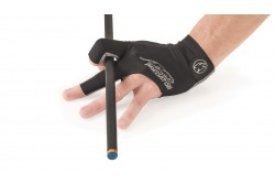 Billiard Glove, Predator Second Skin, 3-Finger, black-grey, to wear on right hand
