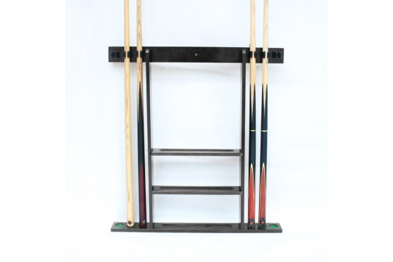 Wall Rack , for 6 Cues, Balls brown, black, white, natural