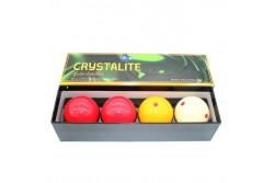 carom ball set 61,5mm CRYSTALITE (4pcs)