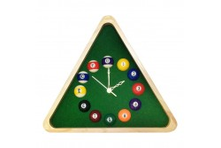 Billiard-Clock, Triangle, nature wood