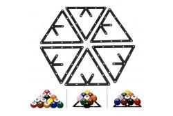 "Aufbauhilfe ""Invisible Rack Sheet"" 8, 9&10 Ball  - 6 Stück, PVC,  Aufbauschablone"