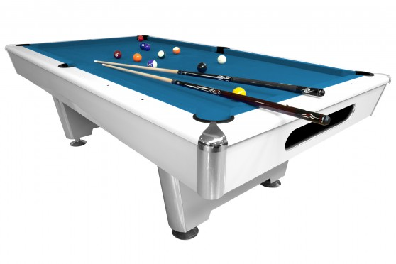 "Billiard Table ""Triumph""  Pool, 7&8 ft dull white"