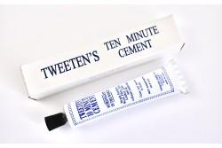 """Special  cue tip glue, """"TWEETEN´S , ten minute cement"""