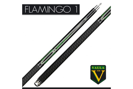 """Billard Queue, Pool, VAULA """"FLAMINGO"""", black-green, 2-tlg"""