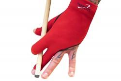 Half-finger glove, Dynamic Premium, 3-finger, black / red, S&M