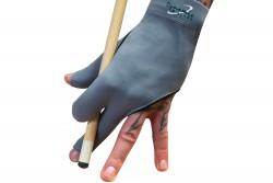 Перчатка на полупальце, Dynamic Premium, на 3 пальца, черная / серая, S&M