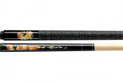 "Queue ""Classic Flames"" schwarz, 123cm, Pool"