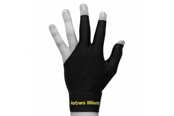 Billard Zubehör 3 Finger Handschuh Partners Billards Schwarz Lycra