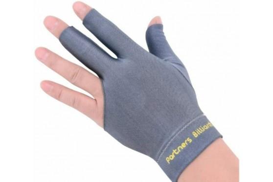 Billard Zubehör 3 Finger Handschuh Partner Billiards grau Lycra