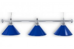 "Lamp ""Blue Light"", 3-bells, Ø35 cm, blue"