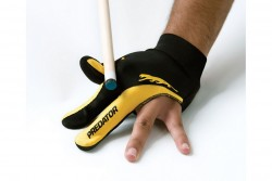 "Glove ""Predator"", 3-finger, black-yellow, L&XL"