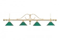 "Billiard Lamp ""Classic"", green, 4 bells"