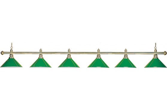 "Lamp ""Evergreen"", 6-bells, green, Ø 35cm"
