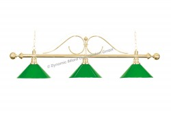 "Billiard Lamp ""Classic"", green, 3 bells"