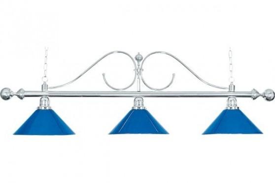"""Billard Lampe """"Classic"""", blau, 3 Schirme"""